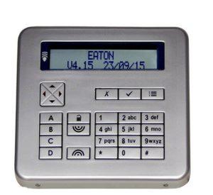 eaton scantronic silver alarm system keypad