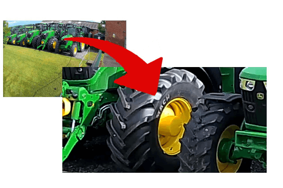 tractors showing zoom facility